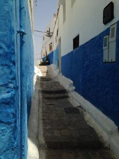 Kasbah des Oudaias - azul profundo das vielas