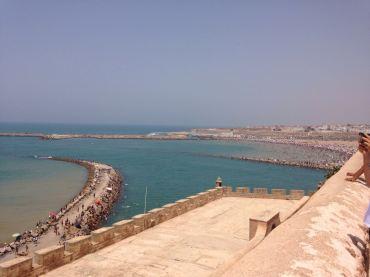 Mirante do Kasbah des Oudauas: a praia de Rabat